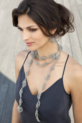Estee Necklace and Earrings Free Knitting Pattern
