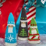 Fair Isle Santas Free Christmas Knitting Pattern