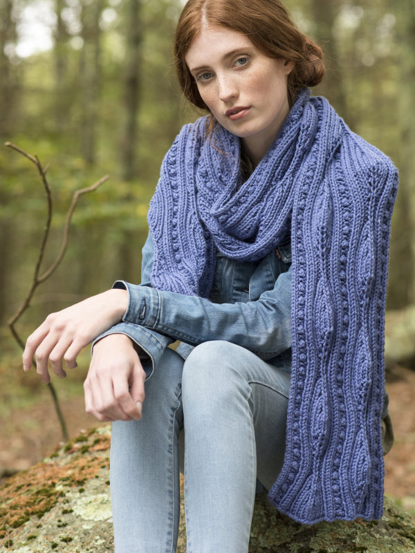 Forestdale Scarf Free Knitting Pattern