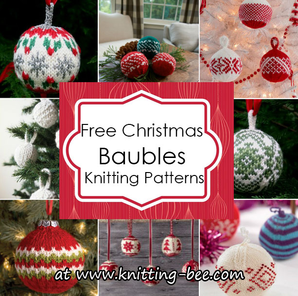 Free Christmas Baubles Knitting Patterns