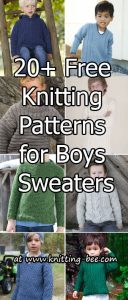 20 + Free Knitting Patterns for Boys Sweaters