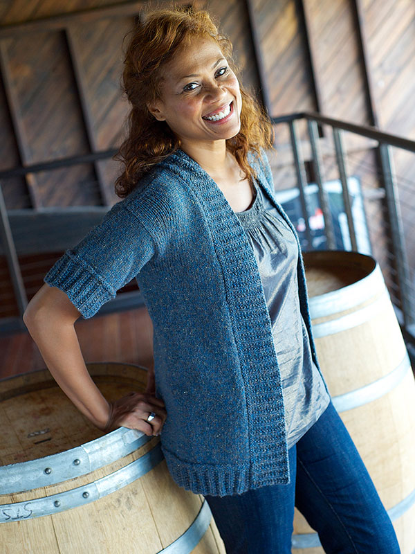 Free short sleeved easy cardigan knitting pattern