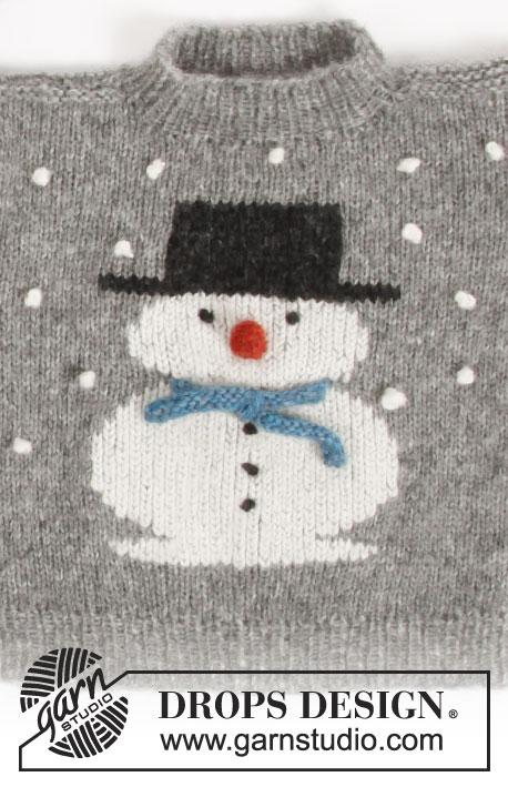 Frosty's Christmas Kids Sweater Free Knitting Pattern