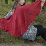 Fuego de Dragon Free Lace Shawl Knitting Pattern