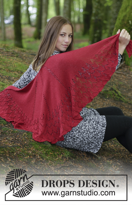 Fuego de Dragon Free Lace Shawl Knitting Pattern