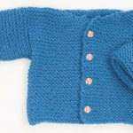 Garter Stitch Free Baby Cardigan Knitting Pattern