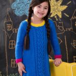 Girl's Cabled Dress Free Knitting Pattern