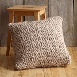 Herringbone Stitch Pillow Free Knitting Pattern