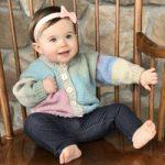 Hot Cakes Free Baby Cardigan Knitting Pattern
