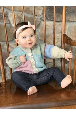 Hot Cakes Free Baby Cardigan Knitting Pattern