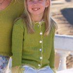 In The Garden Girl's Jacket Free Knitting Pattern