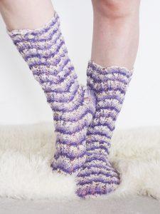 Knee-High Lace Stockings Free Knitting Pattern