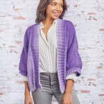 Knit Kimono Style Jacket Free Pattern