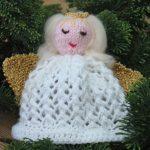 Knit a Christmas angel tree decoration free