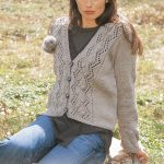Lace and Bobble Cardigan Free Knitting Pattern