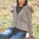Lace and Bobble Cardigan Free Knitting Pattern