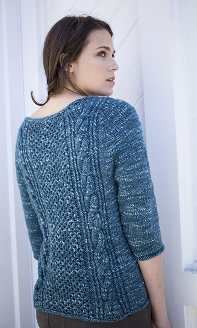 Lempster Free Cable Sweater Knitting Pattern