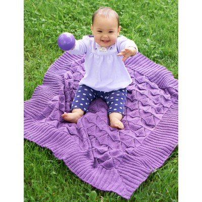 Light & Lovie Free Baby Blanket Knitting Pattern