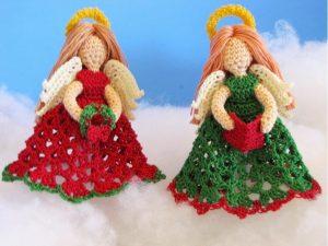 Angel Christmas Tree Topper Crochet Patterns