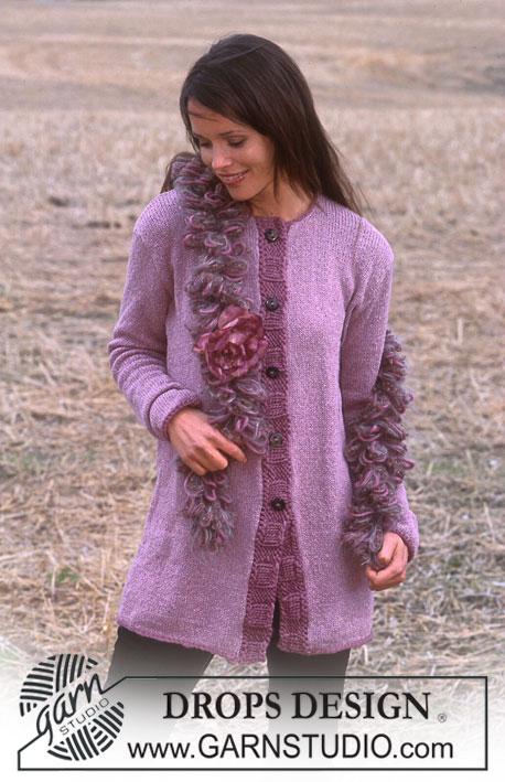 Long Purple Cardigan Free Knitting Pattern