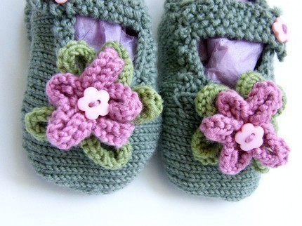 Mary Jane Baby Slippers Knitting Pattern Free