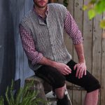 Men's Vest with Cables Free Knitting Pattern
