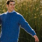 Men's Cable Pullover Free Knitting Pattern