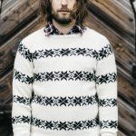 Men's Colourwork Sweater with Raglan Sleeves Free Knitting Pattern