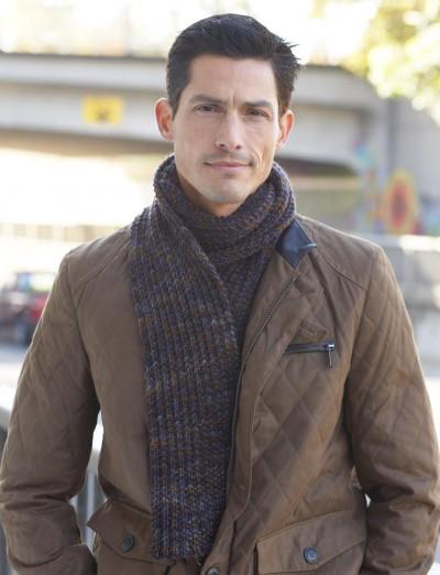 Men's Interchangeable Scarves Free Knitting Pattern