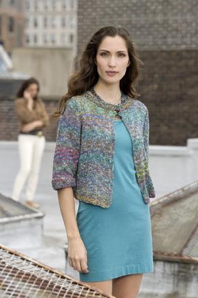 One-Button Jacket Free Knitting Pattern