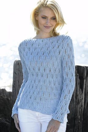 Openwork Boatneck Sweater Free Knitting Pattern Knitting Bee