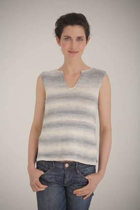 Palma Knit India-Inspired Shell Top Free Knitting Pattern