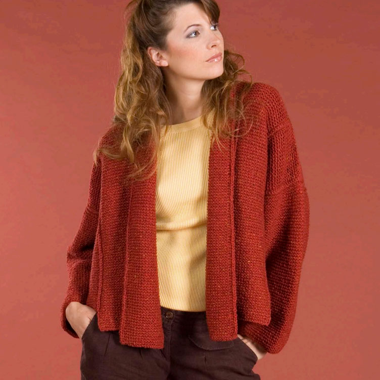 Panel Jacket Free Knitting Pattern