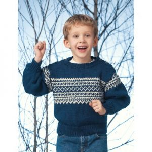 Patons Pullover with Norwegian Pattern