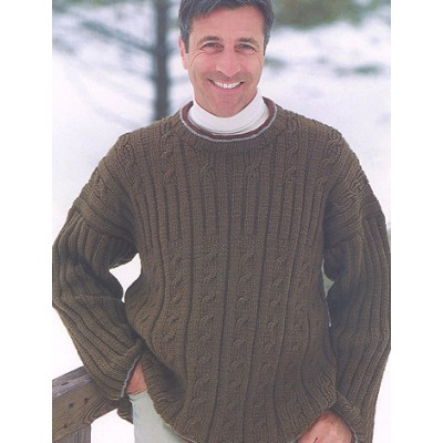 Patons Ribs & Cables Mens Free Knitting Pattern