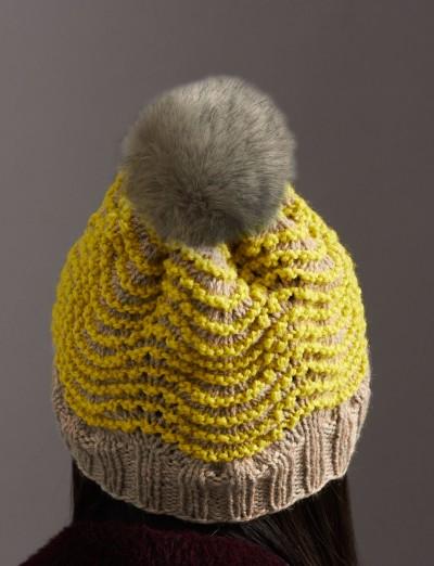 Patons Ripple Hat Free Knitting Pattern