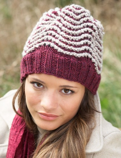 Patons Ripple Hat Free Knitting Pattern