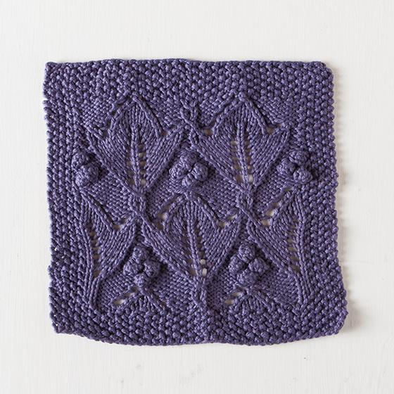 Plum Lotus Dishcloth Free Knitting Pattern