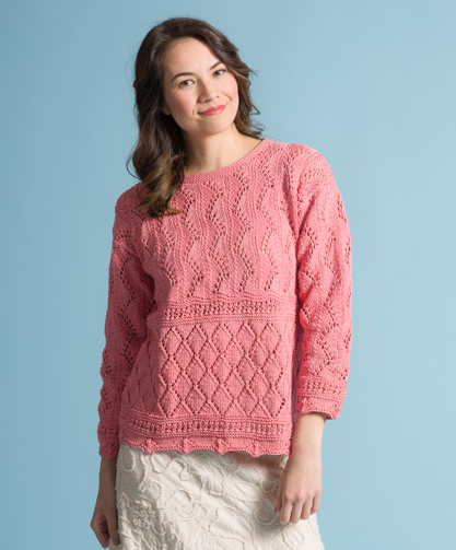 5a9bc71fe Point D'Esprit in Provence Free Lace Sweater Knitting Pattern