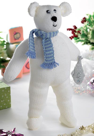 Free Fee Polar Bears Knitting Pattern Patterns Knitting Bee 5