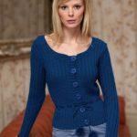 Pom Pom Tie Cardigan Free Knitting Pattern