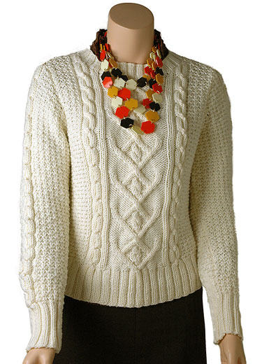 Poonam Free Cable Sweater Knitting Pattern