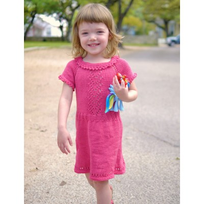 Pretty in Pink Dress Free Knitting Pattern