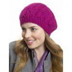 Raspberry Beret Hat Free Knitting Pattern