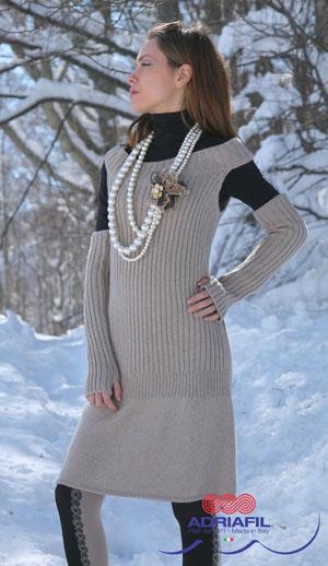 Retro Dress Free Knitting Pattern