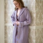 Rib and Cable Coat Free Knitting Pattern