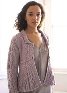 Romy Cabled Cardigan Free Knitting Pattern