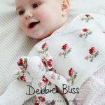 Rosebud Crossover Free Baby Knitting Pattern