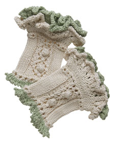 Ruffled Wristwarmers Free Knitting Pattern