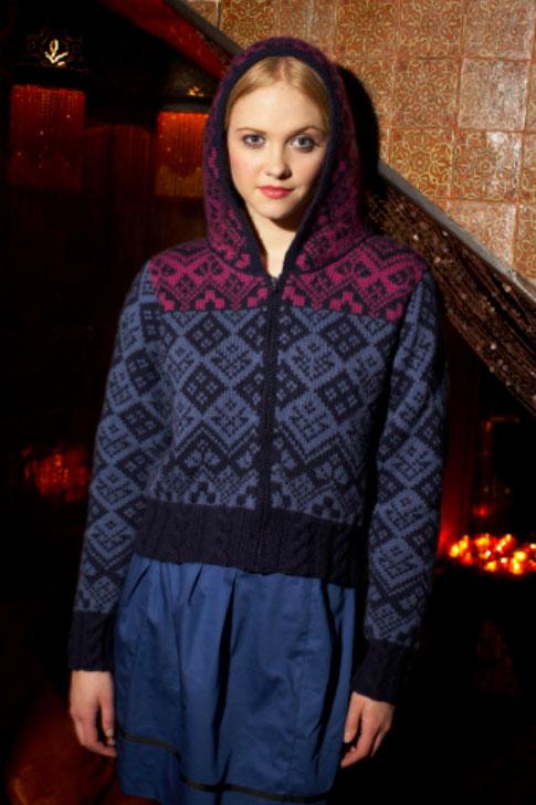 Scandinavian Hoodie Free Knitting Pattern